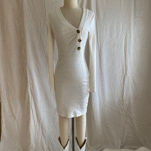 Topshop longsleeve ribbed dress